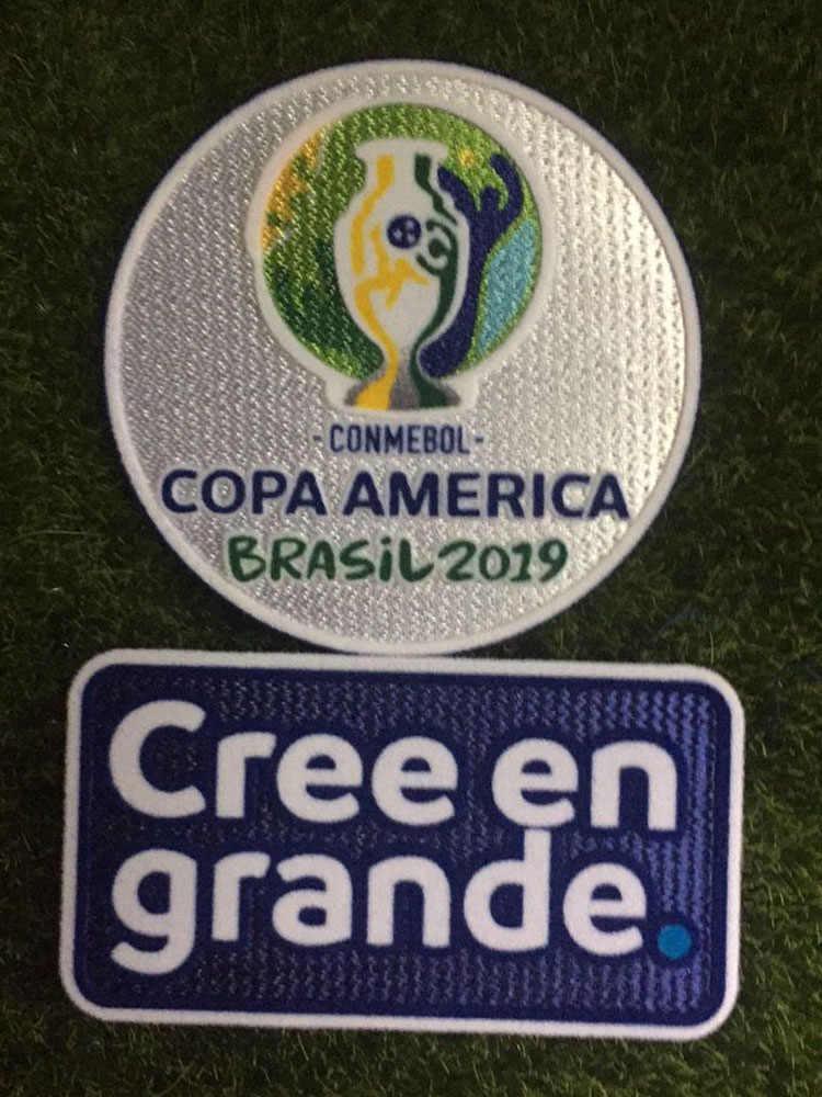 Copa américa 2019 Patch E detalhes do jogo Brasil vs Peru Dia do Jogo Final de Ferro Remendo Crachá De Futebol