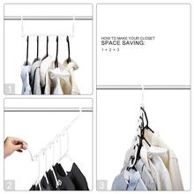 HOUSE DAY 10pcs Magic Hangers Space Saving Clothes Hangers Organizer Smart Closet Space Saver Sturdy Plastic for Heavy Clothes 9 holes hanger clothes hangers clothes closet space saver organizer bn 6