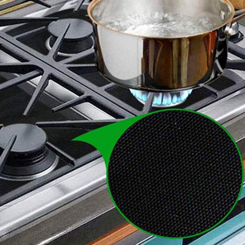 8 Pack Gas Range Protectors and 2 Pack Silicone Stove Counter Cover  Burner Protector Liner Cover  Gas Hob Range Protectors Reus|  - title=