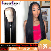 8 to 30 Inch Long 360 Lace Front Wig Pre Plucked Brazilian Straight 180 density 13x6 Lace Front Human Hair Wigs Remy Hair