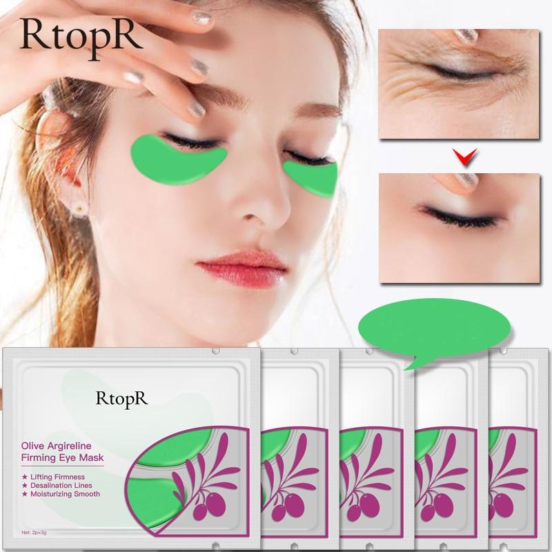 RtopR 1 çift Zeytin Mango C Vitamini Göz Yamalar Kollajen Kaldırmak için Göz Maskesi Koyu Halkalar Göz Torbaları Anti- kırışıklık Jel Göz Pedleri TSLM2
