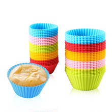 12 Pcs Silicone Cake Cupcake Cup Cake Tools Bakeware Baking Silicone Mold Cupcake and Muffin Cupcake for DIY By Random Color 12 pcs silicone cake muffin chocolate cupcake liner baking cup cookie mold newest hot search