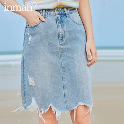 INMAN 2020 Summer New Arrival Fashion INS Style A-line High Waist Hongkong Style Wear Skirt
