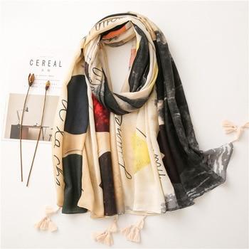 KYQIAO Ethnic HEAD scarf 2020 designer hijab scarf womens scarfs Spain style bohemian hippie geometric