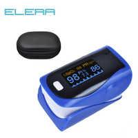 ELERA CE approuvé luminosité Ajustable OLED doigt numérique oxymètre de pouls SPO2 PR PI indicateur réglage d'alarme avec étui de transport