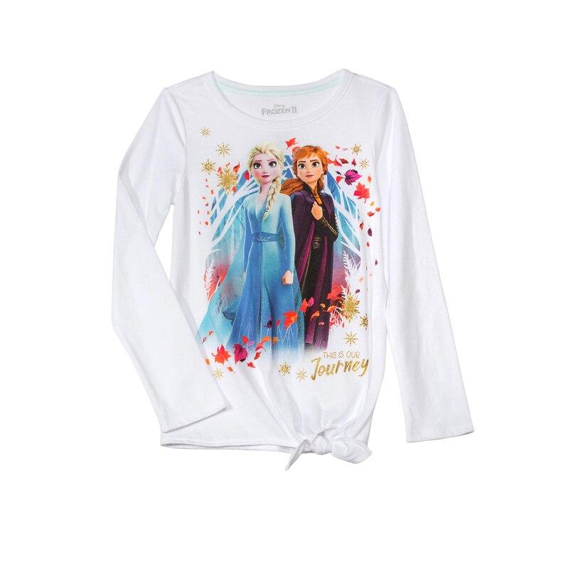Весенняя коллекция 2020 года, Повседневная хлопковая Детская футболка с длинным рукавом «Холодное сердце 2», Эльза и Анна, Детская футболка с рисунком, одежда для девочек, верхняя одежда для влюбленных, женская одежда|Толстовки и кофты| | АлиЭкспресс