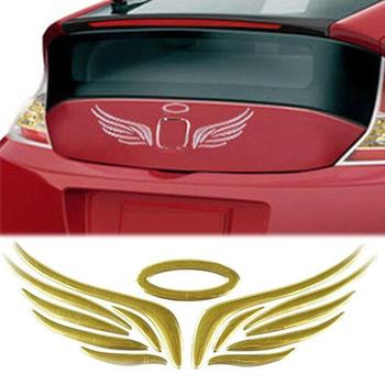 3D Car Sticker 3D Angel Wing Car Auto Stickers Decal Vehicle Emblem Badge Logo Decoration car accessories автоаксессуары для авт image