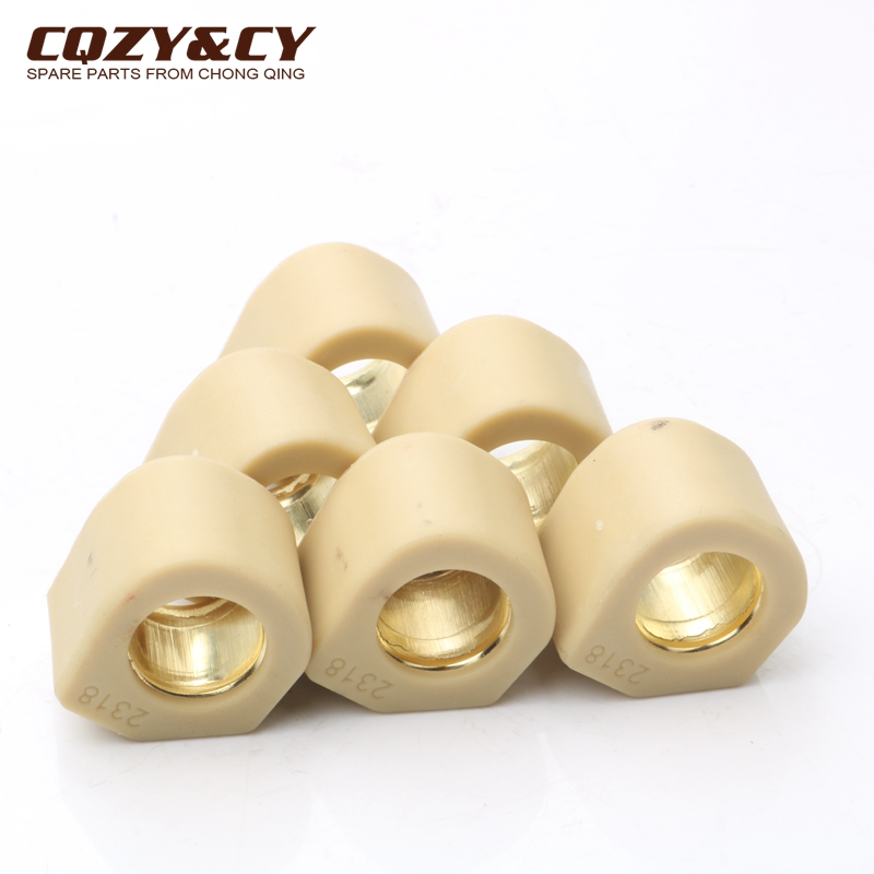 6PC Racing Quality Roller Weights 23x18mm 20 Grams For Piaggio X9 250cc