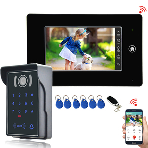7 Inch Touch Screen Color WIFI Video Doorbell 1024 x 600 Digital TFT panel With Human body induction doorbell video function