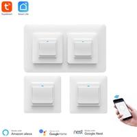 Smart In-Wall Socket Met Licht Schakelaar Vrij Match Werk Met Alexa Google Thuis Wifi Draadloze Controle Tuya Smart domotica