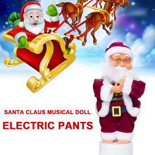 Electric Santa Claus Christmas Doll Make Sound Funny Music Dancing Plastic Home Decor Kids Gift
