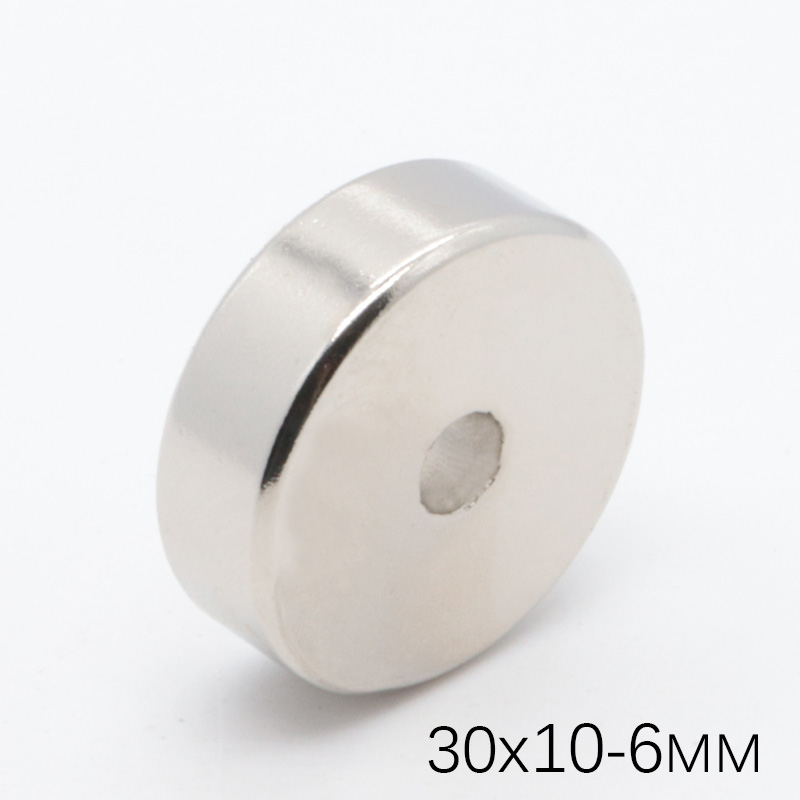 10Pcs <font><b>30x10</b></font> mm Hole 6mm Super Strong Craft Round <font><b>Neodymium</b></font> Ring <font><b>Magnets</b></font> powerful magnetic Rare Earth Permanet <font><b>Magnet</b></font> NdFeB image