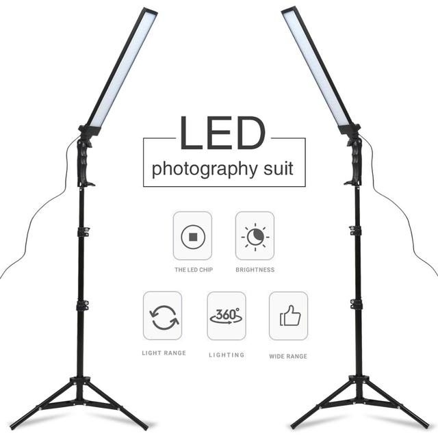 GSKAIWEN 180 LED Light Photography Studio LED Lighting Kit Adjustable Light with Light Stand Tripod Photographic Video FillLight