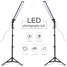 GSKAIWEN 180 LED ışık fotoğraf stüdyosu LED aydınlatma kiti ayarlanabilir ışık ışık standı Tripod fotoğraf Video FillLight