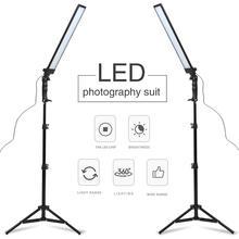 GSKAIWEN 180 مصباح ليد التصوير استوديو LED طقم الإضاءة قابل للتعديل ضوء مع حامل ضوء ترايبود التصوير الفوتوغرافي فيديو فيلليت
