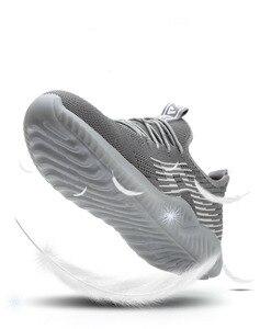 Image 5 - SUADEEX קיץ לנשימה גברים נשים בטיחות בעבודת נעלי כובע הבוהן פלדה מגפי לנקב הוכחת בנייה סניקרס אנטי לנפץ