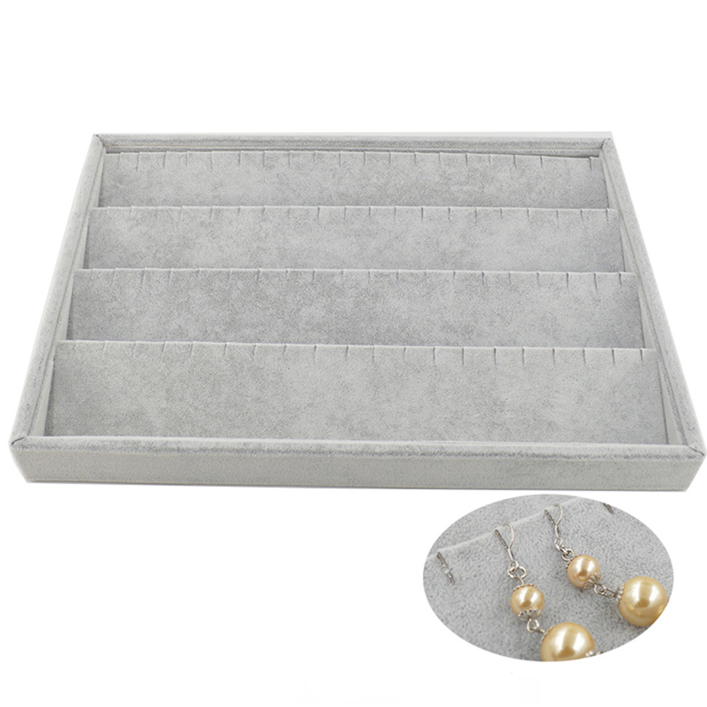 80 Holes Velvet Earrings Assorted Jewelry Storage Display Organizer Showcase Box Tray