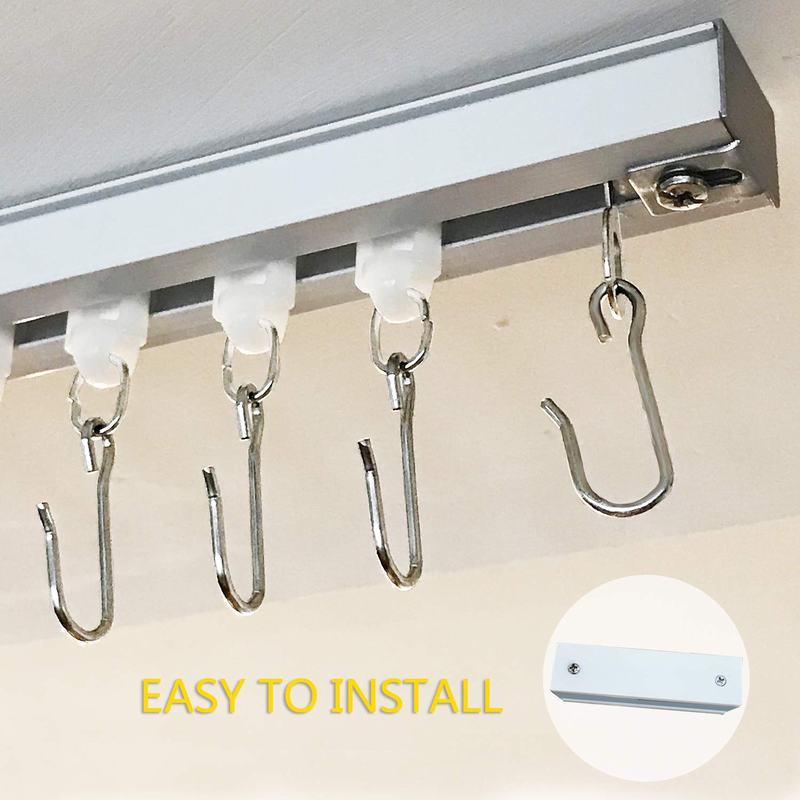 ceiling track set for drapery curtain room divider chadmade window hardware