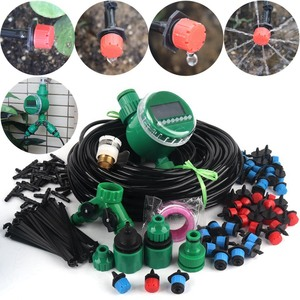 8~40m DIY Timer Control Drip Irrigation System Automatic Watering Kit Adjustable Drippers Home Garden Flower Watering System