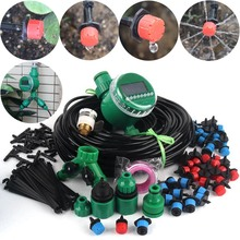 8~40m DIY Timer Control Drip Irrigation System Automatic Watering Kit Adjustable Drippers Home Garden Flower Watering System cheap NuoNuoWell NNW-1DTXHMKIT Plastic Watering Kits