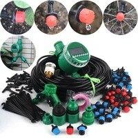 Sistema de riego por goteo con temporizador DIY, Kit de riego automático, goteros ajustables, sistema de riego de flor de jardín de casa, 8 ~ 40m