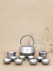 Tea-Set Keith Titanium Kettle Drinkware Tureen Double-Wall Outdoor Camping Gaiwan Cup