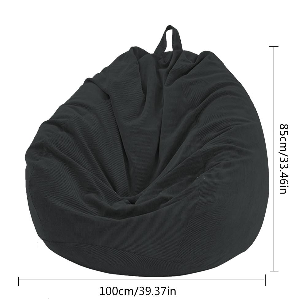 Lazy BeanBag Sofas Cover Chairs without Filler Soft Removable Corduroy Lounger Seat Bean Bag Pouf Puff Couch Tatami Living Room 5