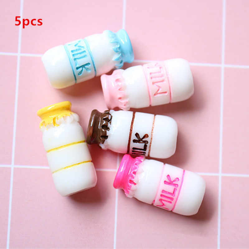 5pcs Milk Bottle Addition Slime Supplies Accessories DIY Decoration for Charm Slime Filler Slime Kids Toys Decoration Gift