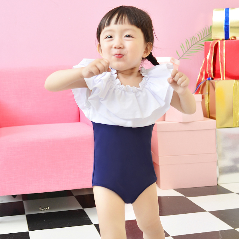 New Style KID'S Swimwear Girls Korean-style Dress-Big Boy Tour Bathing Suit Princess Students South Korea GIRL'S Swimwear