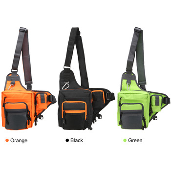 Fishing Tackle Bag Sling Pack Fishing Bags cb5feb1b7314637725a2e7: Black|Green|Orange