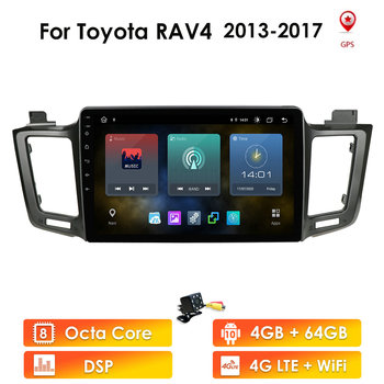Car Multimedia player For Toyota RAV4 RAV 4 2013-2017 2Din Android 10 Autoradio GPS Navigation Radio Cassette Recorder wifi dtv image