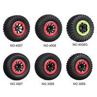 INJORA 4PCS RC Car Beadlock Rubber Tires Wheel Rim Set for 1/10 Short Course Truck Traxxas Slash 4x4 VKAR 10SC HPI 6