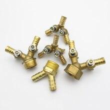 """8 мм 10 мм шлангов x 1/"""" BSP Мужская Женская резьба Y Тип 3 Трехходовой латунный шаровой клапан фитинг для труб Соединительный адаптер для топливного газа"""