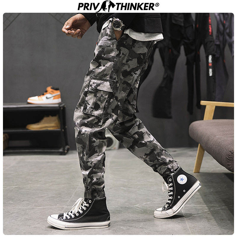 Privathinker Men's Autumn Hip Hop Camouflage Safari Style Joggers Men Streetwear Harem Pants Male 2019 Fashion Trousers Pants