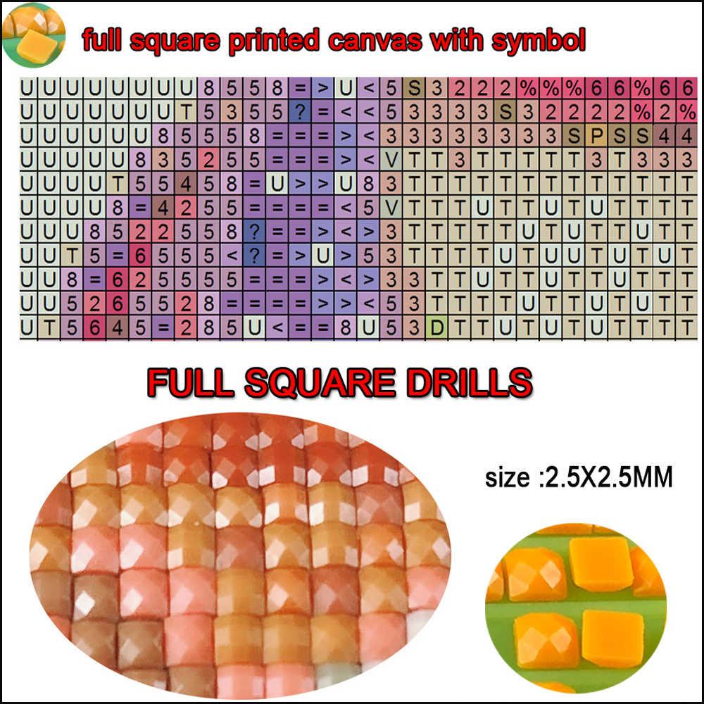 מלא כיכר יהלום רקמת, 5D diy יהלומי ציור, בודהא, יהלומי פסיפס דפוס, mazayka, רקמה, פאזל, סין בודהה 5pcs