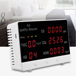 Indoor Outdoor Air Quality Monitor CO/HCHO/TVOC Tester CO2 Meter Gas Analyzer