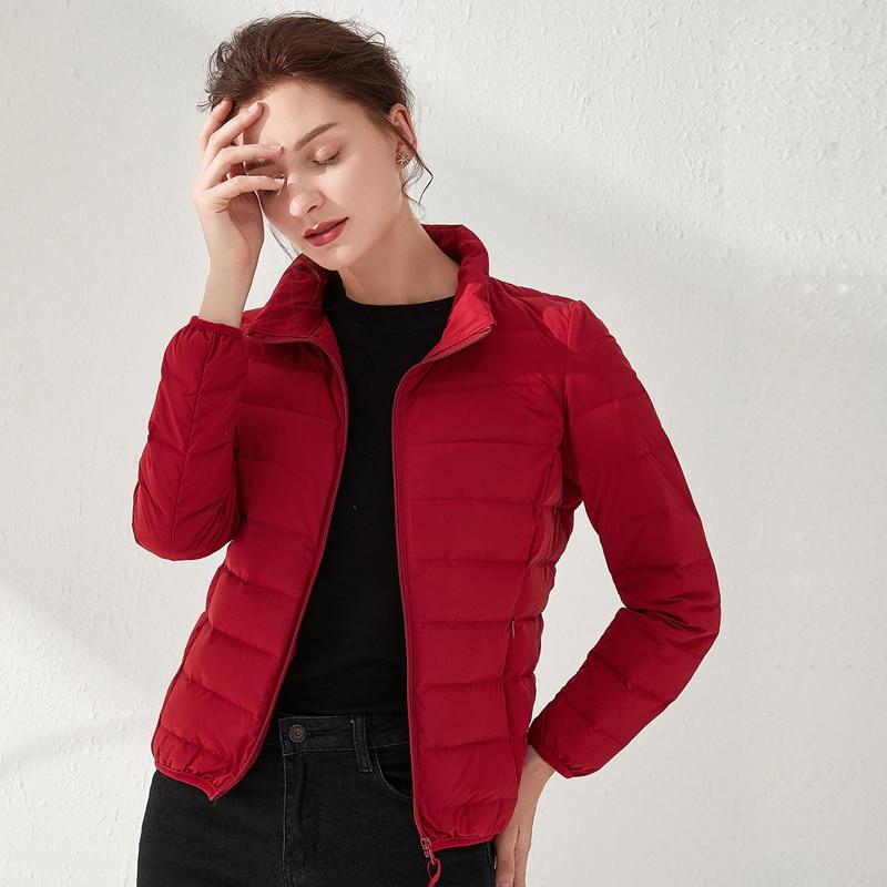 Down Jacket Women Matt Fabric Ultra Light Winter 90% Duck Down Jackets Warm Coat Parka Female Solid Waterproof Seamless Outwear