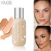 Kimuse fosco power wear base fundação maquiagem ovo esponja corretivo líquido profissional à prova dwaterproof água natural marca