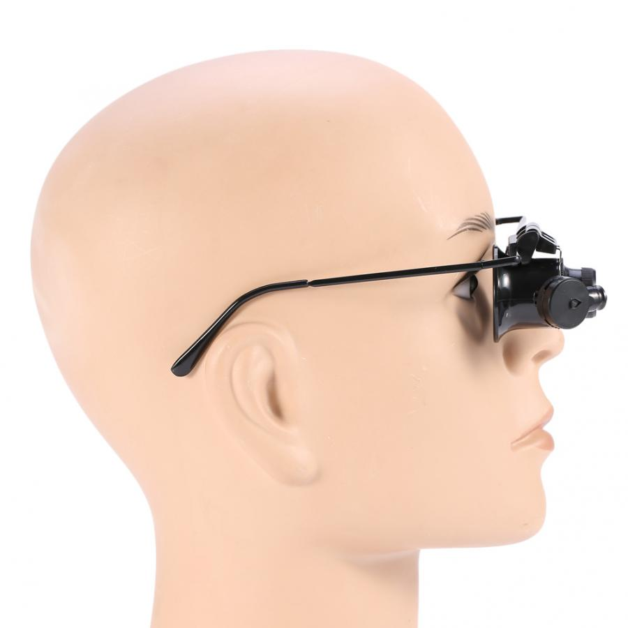 20X Magnification Single Eyeglass Magnifying Jeweler Eye Glasses Loupe Watch Repair Magnifier LED Light Tattoo Accesories