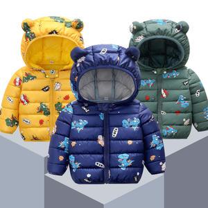 Padded-Coat Light Down-Jacket Autumn Baby Winter Cotton New Thin And Cartoon Children's