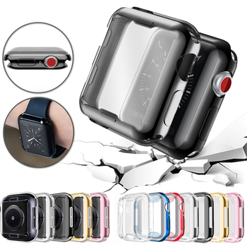 360 slim watch cover for apple watch case 5 4 3 2 1 42mm 38mm soft clear tpu screen protector for iwatch 4 3 44mm 40mm Slim Watch Cover for Apple Watch Case 5 4 3 2 1 42mm 38mm Soft Clear TPU Screen Protector for iWatch 4 3 44mm 40mm accessories