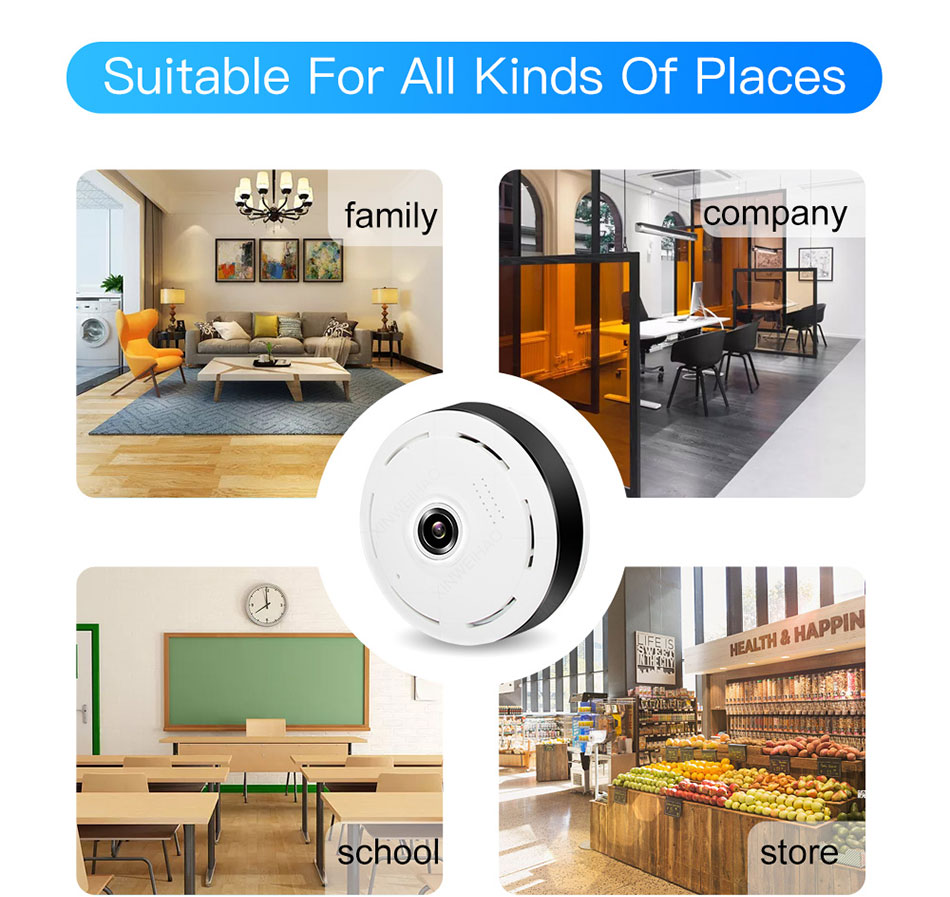 HD 360 Degree Panoramic Security Mini Camera