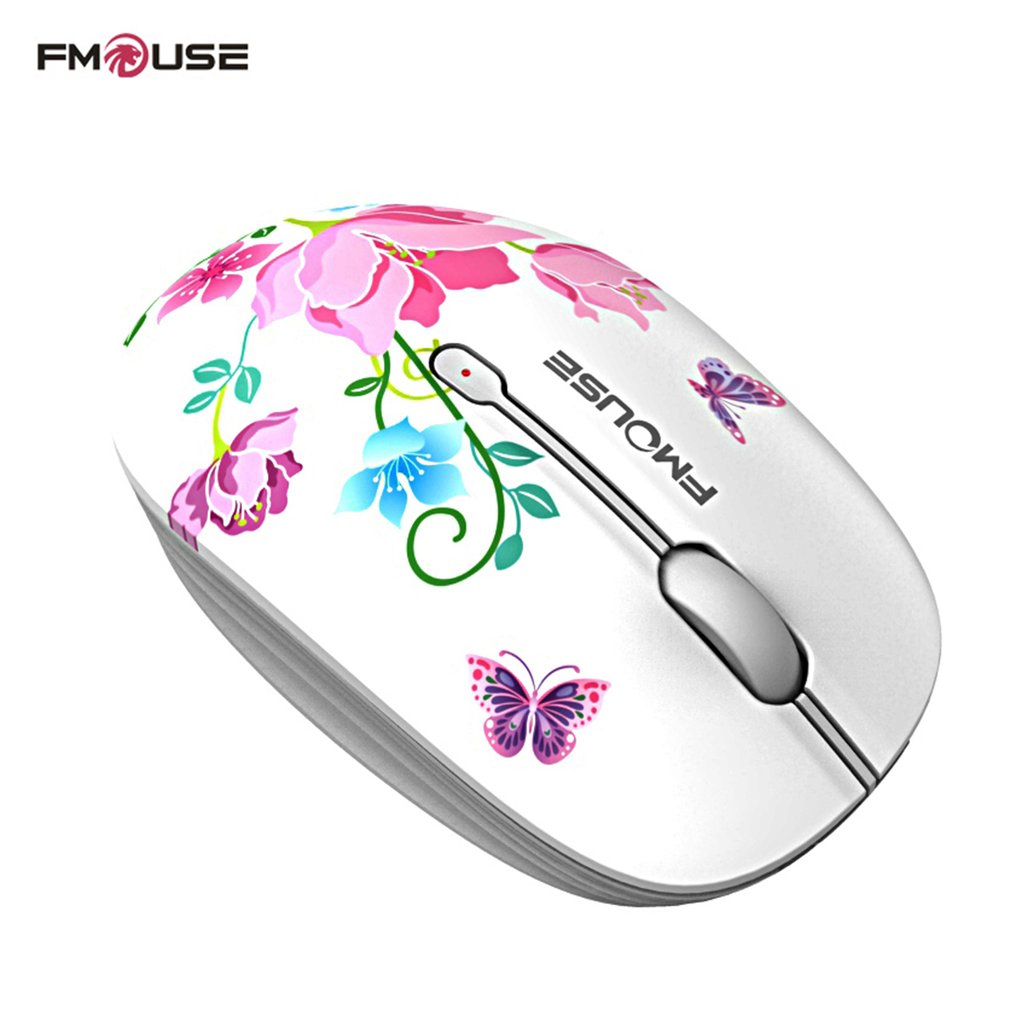 2.4G Wireless Mouse Exquisite Appearance 1600DPI Laptop Notebook Computer Wireless Optical Mouse,Butterfly,Russian Federation