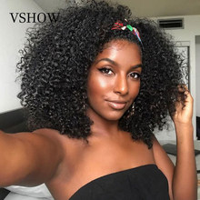 Malaysian Curly Lace Front Wig For Women Kinky Curly Lace Frontal Wig 13X4 Lace Closure Short Bob Wig Remy Curly Human Hair Wig(China)