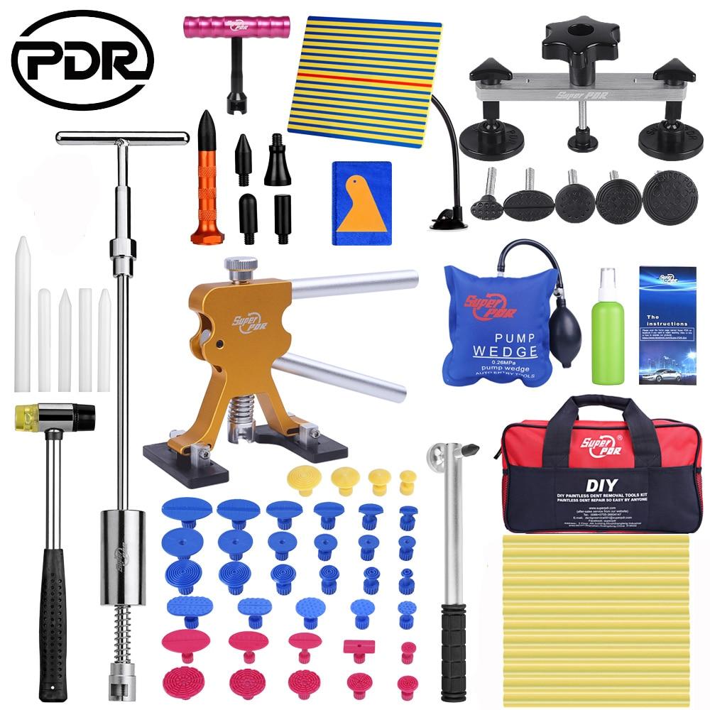 PDR Car Repair Dent Puller Set Removal Tool Kit Dent Puller Slide Hammer Rubber Tool Bag Glue Tabs For Any Car Dent Repair