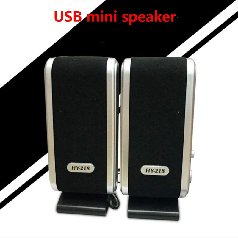 1Pair Mini Speakers Portable USB 2.0 HY-218 Laptop Computer Speaker for Desktop PC Notebook Headphone Microphone Accessories