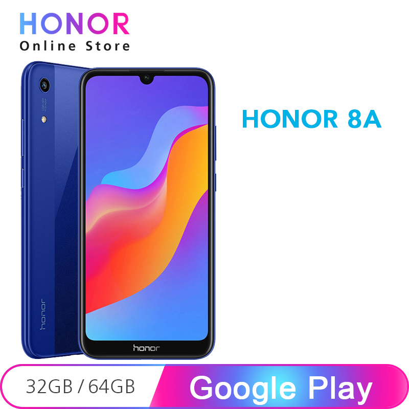Global Rom Honor 8A 2G 32G Cell Phone Face ID 6.09