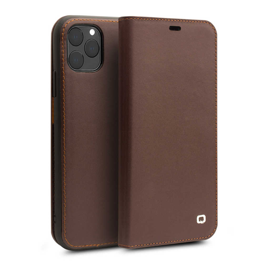 QIALINO Luxury Genuine Leather Case Telefone para Apple iPhone 11 11 Puro Handmade Do Caso Da Aleta com Slots de Cartão para o iphone pro Max