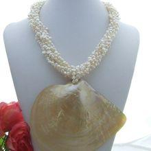 5 нитей жемчуга и ларимара и кристалла и кулон ожерелье