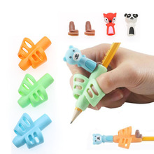 3 шт./компл. нетоксичный карандаш и держатель для ручек с мультяшными животными, инструмент для коррекции осанки, офисные и школьные принадл...